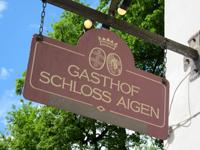 GASTHOF「SCHLOSS AIGEN」で 気持ちのいい中庭で絶品スープ