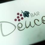BAR「Deuce」で 桃のショートカクテル