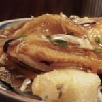 喰切料理「一楽」で 骨のぱきぱき軽妙な鰈唐揚げ野菜あんかけ
