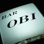 BAR「OBI」で 怪しさに押す古びた扉Old Crow三角カウンター