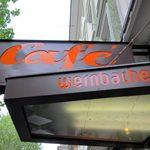 café「wernbacher」で パフェ仕様半熟玉子老舗カフェ朝ごはん