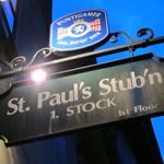 Restaurant「St.PAUL STUB'N」で 白ビールと揚げシャンピニオン