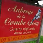 「Auberge de la Combe Geay」で モルトー腸詰と黄色いワイン