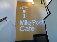 スポーツバイク専門店「Mile Post Cafe」で 豆カリーと隅田川テラス