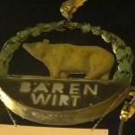 Restaurant「BÄREN WIRT」でAugustinerのジョッキSpargel揚焼きBÄRENは熊印