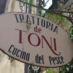 TRATTORIA「de TONI」でfasolari のニョッキに蒸し煮Boretoお魚料理の厨房