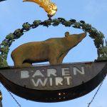 Restaurant「BÄREN WIRT」で包み揚げシュパーゲルにレバー版シュニッツェル