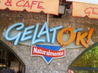 GELATERIA「GelatOK」で久々のパフェラッチHalleinの街の陽射しと苺のパフェと